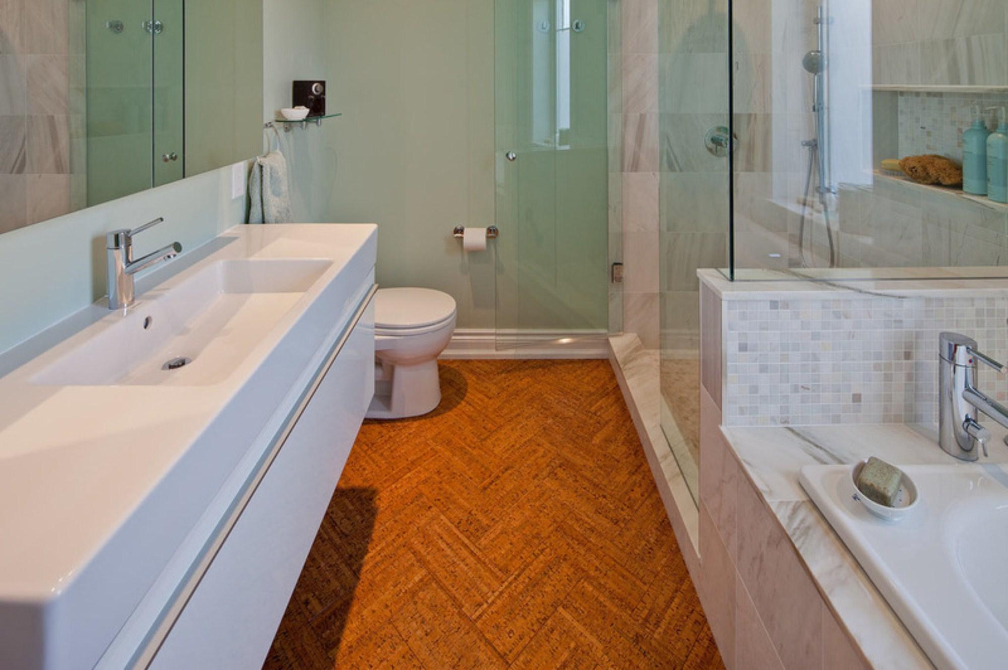 Korkowe Wnętrze łazienki Projektujemylazienkepl